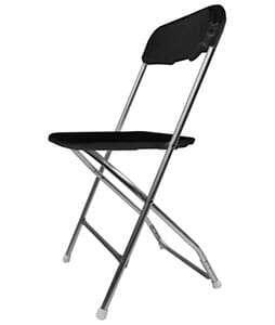 Chair Black Aluminum 1