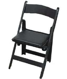 Chair Black Resin with Padded Cushion 1