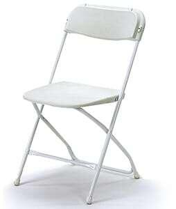 Chair White Fiberglass 1