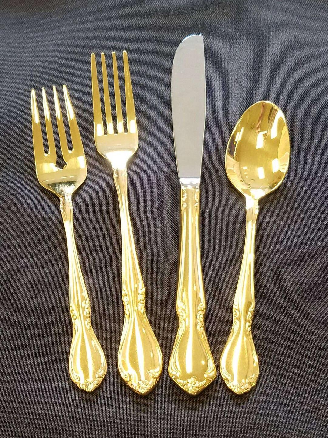Flatware Gold Dinner Fork Sully S Tool Amp Party Rental
