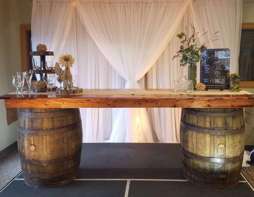 Bourbon Barrel Bar W Top Sully S Tool Amp Party Rental