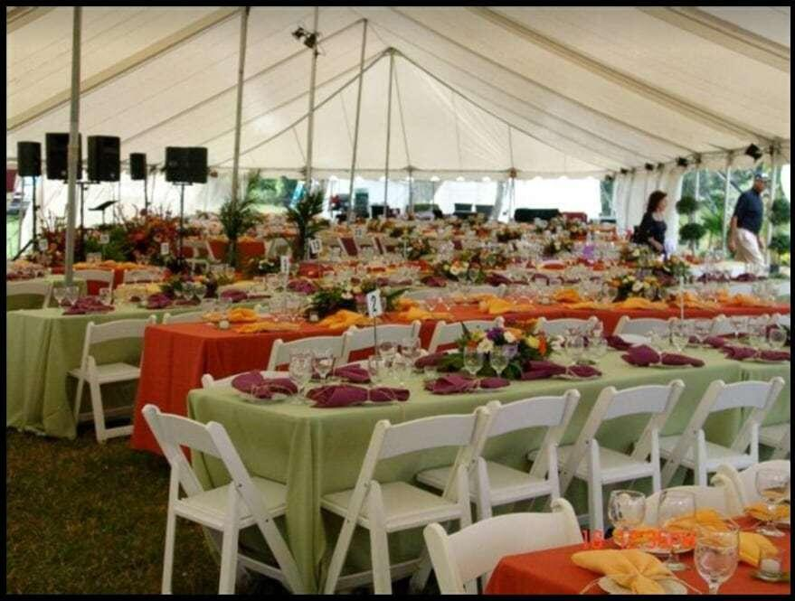 Chair and tent rental